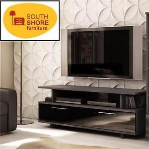 "NEW* SOUTH SHORE 60"" TV STAND REFLEKT - GRAY OAK MODERN FINISH HOME FURNITURE ENTERTAINMENT DECOR LIVING ROOM 97196900"