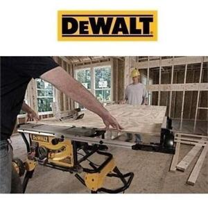 "NEW* DEWALT 10"" JOBSITE TABLE SAW DWE7491RS 226473536 ROLLING STAND TOOL"