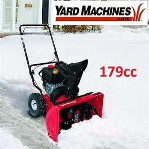 """NEW* YARD MACHINES SNOW BLOWER 179cc 22"""" Two-Stage Snow THROWER - SNOW REMOVAL SNOWBLOWER BLOWERS POWER GAS 96452996"""