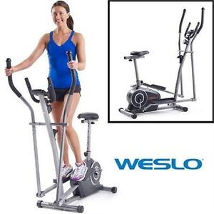 USED WESLO MOMENTUM HYBRID TRAINER 3.2 ELLIPTICAL WITH SEAT - FITNESS EXERCISE STEPPERS WORKOUT EQUIPMENT  80177793