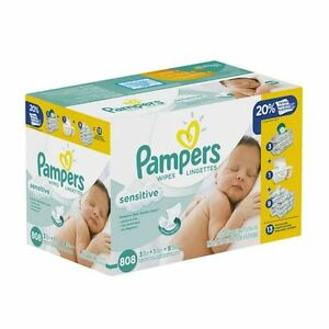 Two Brand new never opened sealed Pampers Wipes Boxes