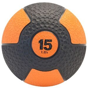 Northern Lights Deluxe Rubber Med Ball, 15 lb MBNLDRLB15