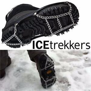 NEW ICETREKKERS SHOE CHAINS LG MEN'S 9.5-12.5 & WOMEN'S 10.5+ - FOOTWEAR ICE SNOW GRIP - WINTER ACCESSORIES  84811067