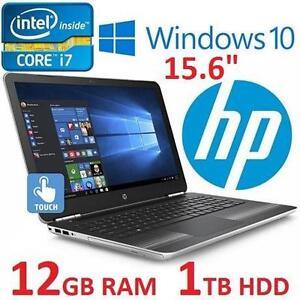 "REFURB HP PAVILION 15 GAMING LAPTOP TOUCHSCREEN - 15.6"" DISPLAY 1TB HDD 12GB RAM INTEL i7 GEFORCE 107662225"