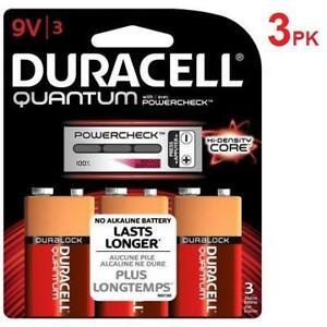 NEW 3PK DURACELL QUANTUM 9V BATTERY 175058948 PACK OF 3 EXP. DEC/2019 BATTERIES