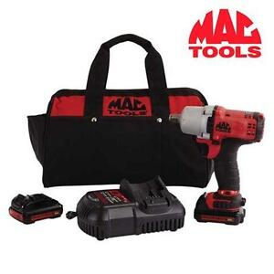 "NEW MT CORDLESS IMPACT WRENCH KIT MAC TOOLS - 1/2"" DRIVE 12V MAX Automotive Tools Supplies>Air Tools"