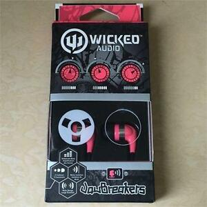 NEW, Genuine Wicked Audio WI-2102 Jaw Breakers Earbud- Pink