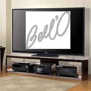 """NEW BELL'O AUDIO/VIDEO STAND   FOR MOST TV'S UP TO 84"""" - DARK ESPRESSO TV STAND - TELEVISION STAND/RACK   85088325"""