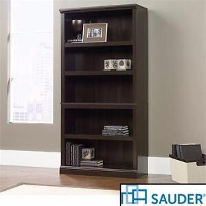 NEW* SAUDER 5-SHELF BOOKCASE 5-SHELF BOOKCASE HOME FURNITURE -CINNAMON CHERRY FINISH DECOR ACCENT 93349922