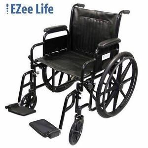 "USED EZEE LIFE 20"" WIDTH WHEELCHAIR EZee Life Standard 20"" Seat Width Wheelchair - 108538428"