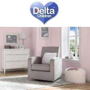 NEW DELTA CHARLOTTE NURSERY GLIDER 503310-076 227275657 GREY
