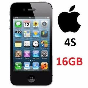 NEW APPLE IPHONE 4S 16GB LOCKED BLACK - CELL PHONE - SMARTPHONE 74753969