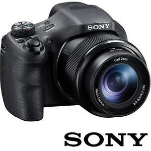 SONY CYBER-SHOT DSCH300B 20.1MP HIGH-ZOOM CAMERA - BLACK