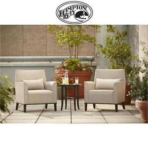 2 NEW* HAMPTON BAY ARIA CHAIRS ARIA PATIO DEEP SEATING CHAIRS (2-PACK) PATIO FURNITURE Home Outdoors Patio Furniture