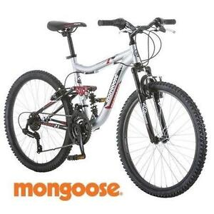 "NEW* MONGOOSE LEDGE 2.1 BOYS BIKE - 112622379 - MOUNTAIN 24"" BICYCLE 21 SPEED SUSPENSION"