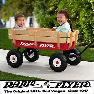 NEW RADIO FLYER STEEL/WOOD WAGON KIDS - ALL TERRAIN Toys  Kids' Bikes Riding Toys