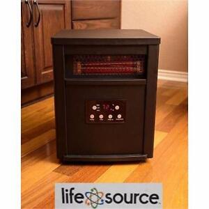 NEW* LIFESOURCE INFRARED HEATER LIFE ZONE SERIES 1500 WATT INFRARED HEATER WITH METAL CABINET REMOTE CONTROL  83091607