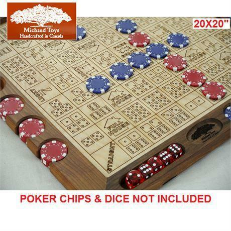 """NEW MICHAUD TOYS DICE POKER BOARD BOARD ONLY - 20"""" X 20 ..."""