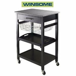NEW WINSOME WOOD UTILITY CART   SERVING CART HOME KITCHEN FURNITURE OFFICE  85111628