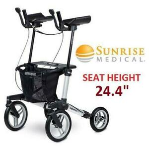 NEW SUNRISE MEDICAL GEMINO WALKER 7160020 255749460 60 TOTAL HEIGHT 38.8 TO 45.5 SEAT HEIGHT 24.4