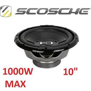 """NEW SCOSCHE HD 10"""" SUBWOOFER 1000W MAX - 300W RMS 105340288"""