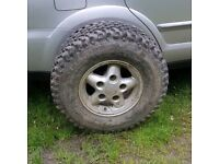 Landrover spare wheel and trye