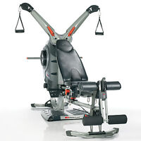 Bowflex Revolution, upgraded weights and accessory rack for sale