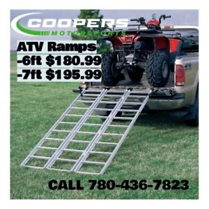 Having trouble loading your ATV/UTV we have ramps!
