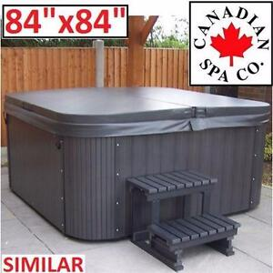 "NEW CANADIANSPACO TAPERED SPA COVER 84""x84"" - 5""-3"" TAPER - GREY GRAY - HOT TUB - CANADIAN SPA CO  82703272"