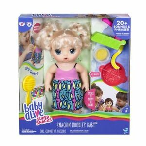 Brand New BabyAlive SuperSnacks Super Snackin' Noodles Baby Doll