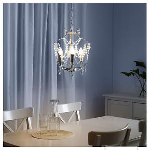 Crystal Chandelier with LED lightbulbs