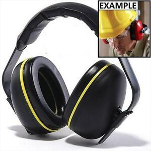 NEW CONDOR PROTECTIVE EAR MUFFS BLACK/YELLOW SAFETY HEARING PROTECTION NOISE CANCELLING  78212473