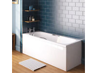 Danbury Single Ended Bath with Grips - 1500 x 700mm + side panel