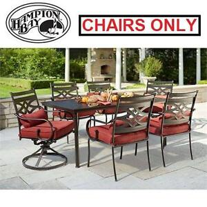 NEW* HB MIDDLETOWN 7 PC DINING SET - 114732163 - HAMPTON BAY 7 PC DINING SET CUSHIONS