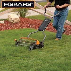 "NEW* FISKARS 18"" PUSH LAWNMOWER LAWN MOWER - StaySharp MAX REEL outdoor lawn maintenance garden  83739255"