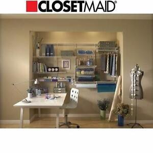 NEW CLOSETMAID 8' CLOSET ORGANIZER   5'-8' WHITE SHELF TRACK CLOSET ORGANIZER - HOME - STORAGE  89678437