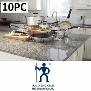 NEW HENCKELS COOKWARE SET 10PC SYNERGY - KITCHEN - HOME - FOOD COOKING POTS PANS 96279028