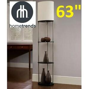 "NEW 1 LIGHT OVAL FLOOR LAMP 18200-000 219887759 63""H x 13""W x 9""D 3 TIER SHELVES WITH LIGHTING"