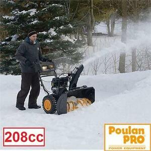 """NEW* POULAN PRO 208cc SNOW BLOWER 24"""" CLEARING WIDTH SNOWBLOWER ELECTRIC START HANDLEBAR WARMERS GAS DRIVEWAY 93457976"""