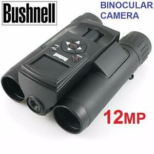 NEW BUSHNELL BINOCULAR CAMERA 12MP IMAGEVIEW 8X 3MM BINOCULAR W/ 12MP CAMERA OUTDOORS HUNTING CAMPING SPORTS  93704404