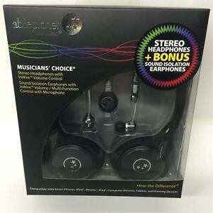 AblePlanet SH180GMM-SI170GM Stereo Headphones + Bonus Sound Isolation Earphones