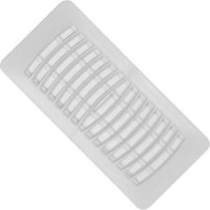 White 4x10 plastic registers 15 pieces