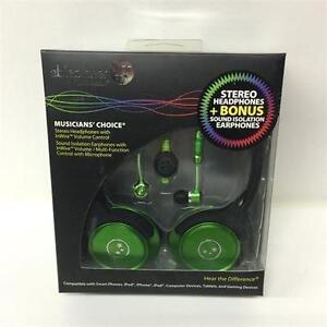 AblePlanet SH180GRM-SI170GR Stereo Headphones + Bonus Sound Isolation Earphones