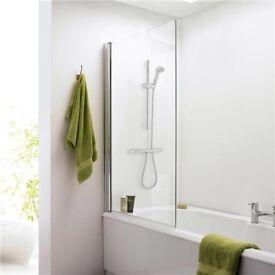Brand new glass bath screen