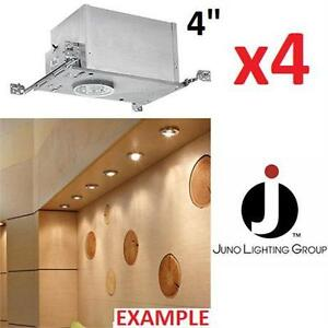 "NEW* JUNO LIGHTING RECESSED HOUSING  IC RATED LOW VOLTAGE - 4"" CEILING LIGHTS  83110811"