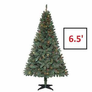 NEW 6.5FT ARTIFICIAL TREE 6.5 Ft. Verde Spruce Artificial Christmas Tree With 400 Multi-colour Lights Decor  84055014