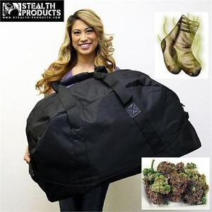 NEW SP LARGE ODOURLESS DUFFELBAG STEALTH PRODUCTS - W/ SHOULDER STRAP - SMELL PROOF HOCKEY DUFFLEBAG GYM BAG 76835550