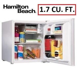 NEW* HB 1.7 CU. FT. COMPACT FRIDGE WHITE - FRIDGE - HAMILTON BEACH 97386796