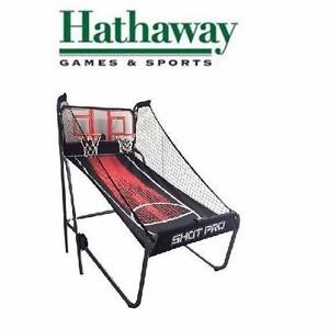 NEW HATHAWAY BASKETBALL GAME   SHOT PRO DELUXE ARCADE STYLE ELECTRONIC BASKETBALL GAME SPORTS PLAY RECREATION 97990101