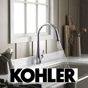 NEW KOHLER SIMPLICE KITCHEN FAUCET PULL DOWN FAUCET - VIBRANT STAINLESS 102976231
